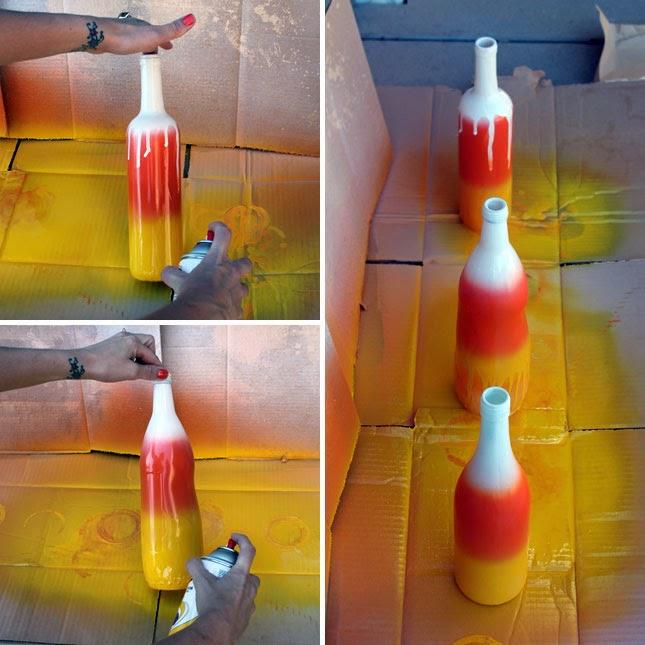 Botellas Pintadas para Halloween