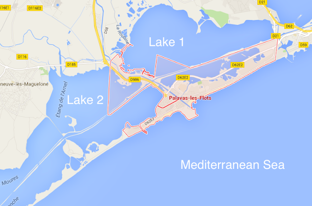 Palavas-les-flots map