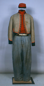 zouave uniform, conservation of military uniforms and historic garments, Art Conservator