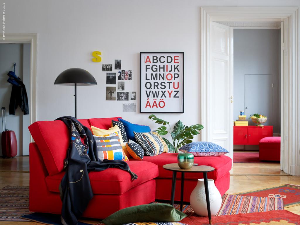 Woonkamer Zwarte Bank : rode-bank-woonkamer