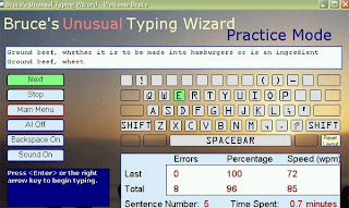 bruce's unusual typing wizard software for learning typewriting