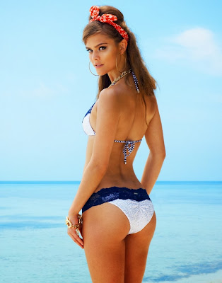 Nina Agdal hot and sultry for the new Beach Bunny sexy swimwear collection