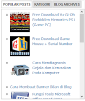 Cara Membuat Tab Multi Widget di Blog