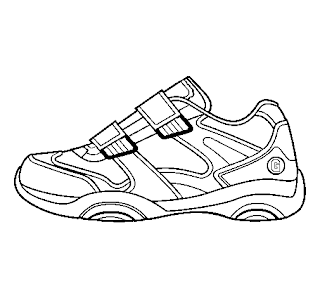 A Desenhar Os Tênis allstar e Nike colorir