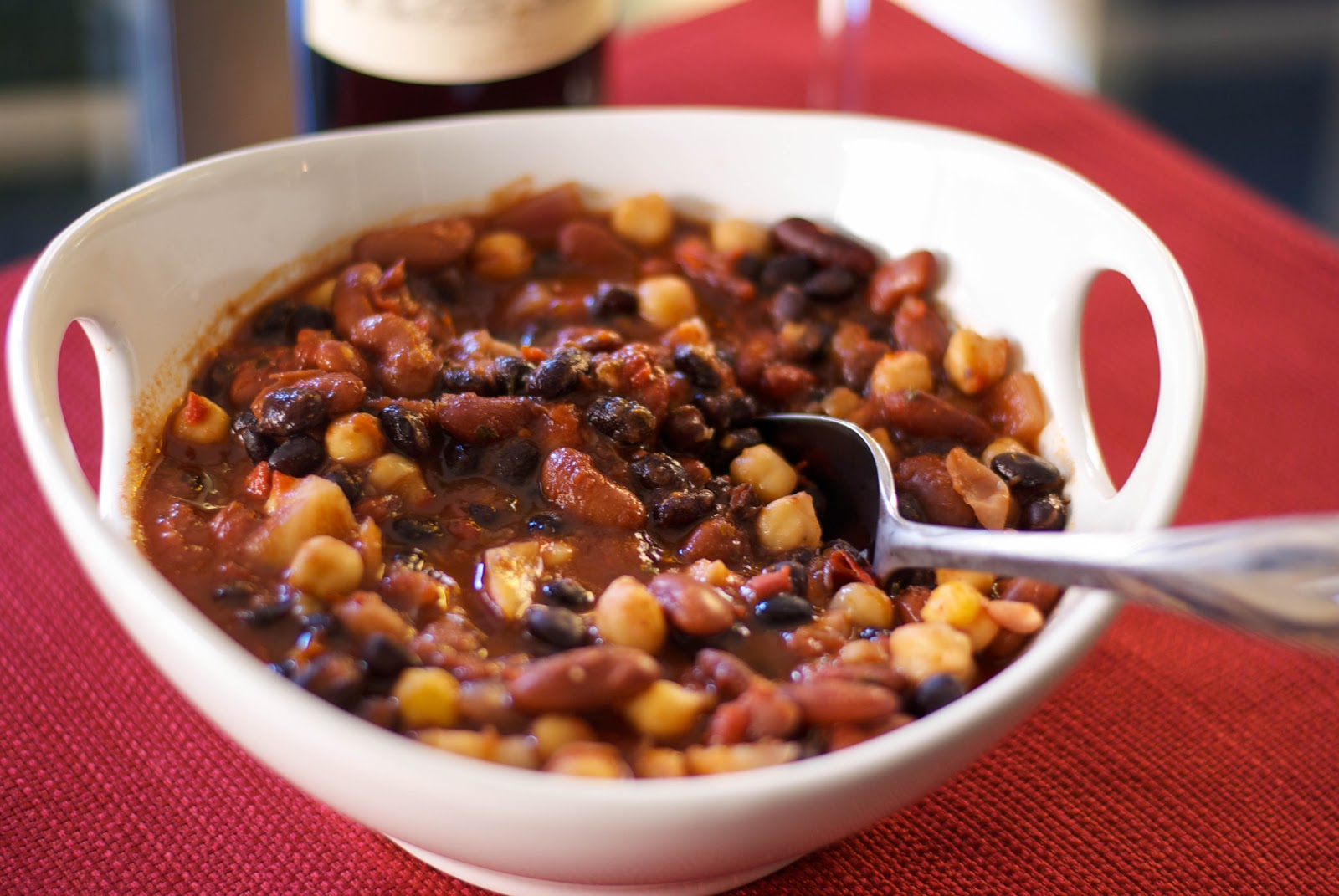 Carrie's Experimental Kitchen: Roasted Fennel & 3 Bean Chili