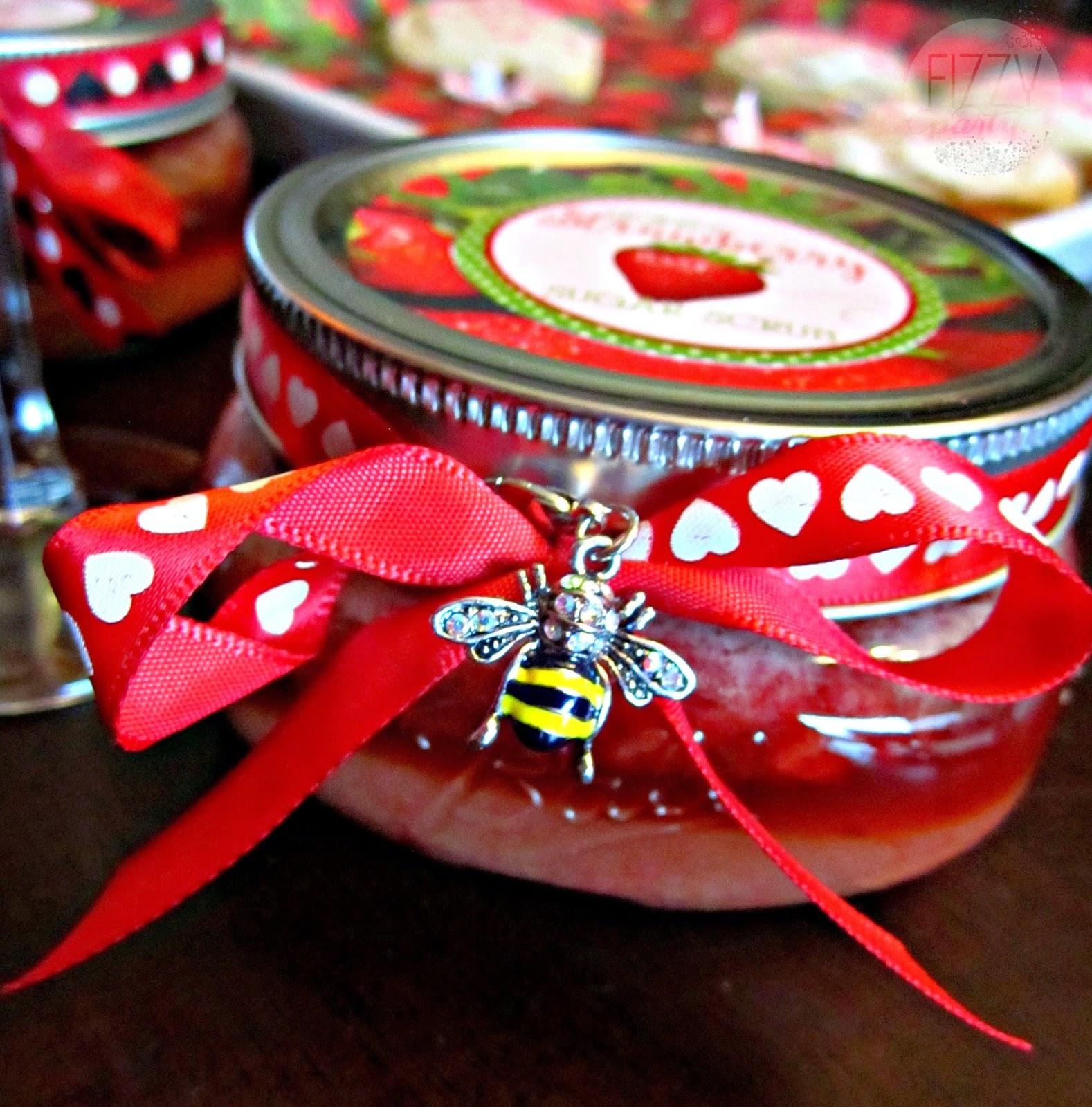 Honey strawberry sugar scrub