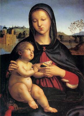 Madona e o menino Jesus