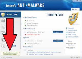 Trik Mendapatkan Serial Emsisoft Anti malware Seumur Hidup