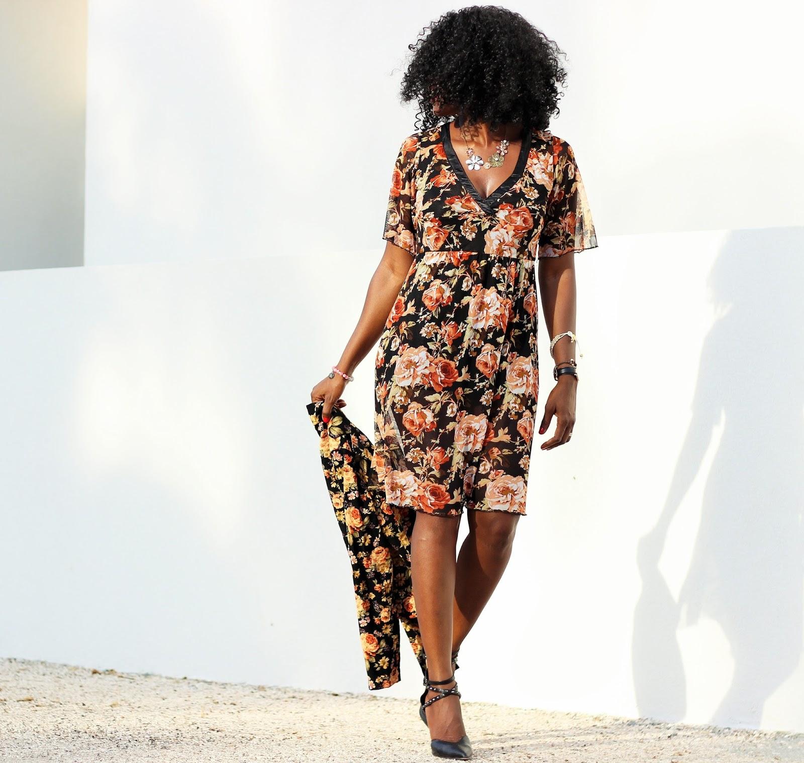 FLORAL BLAZER x FLORAL DRESS
