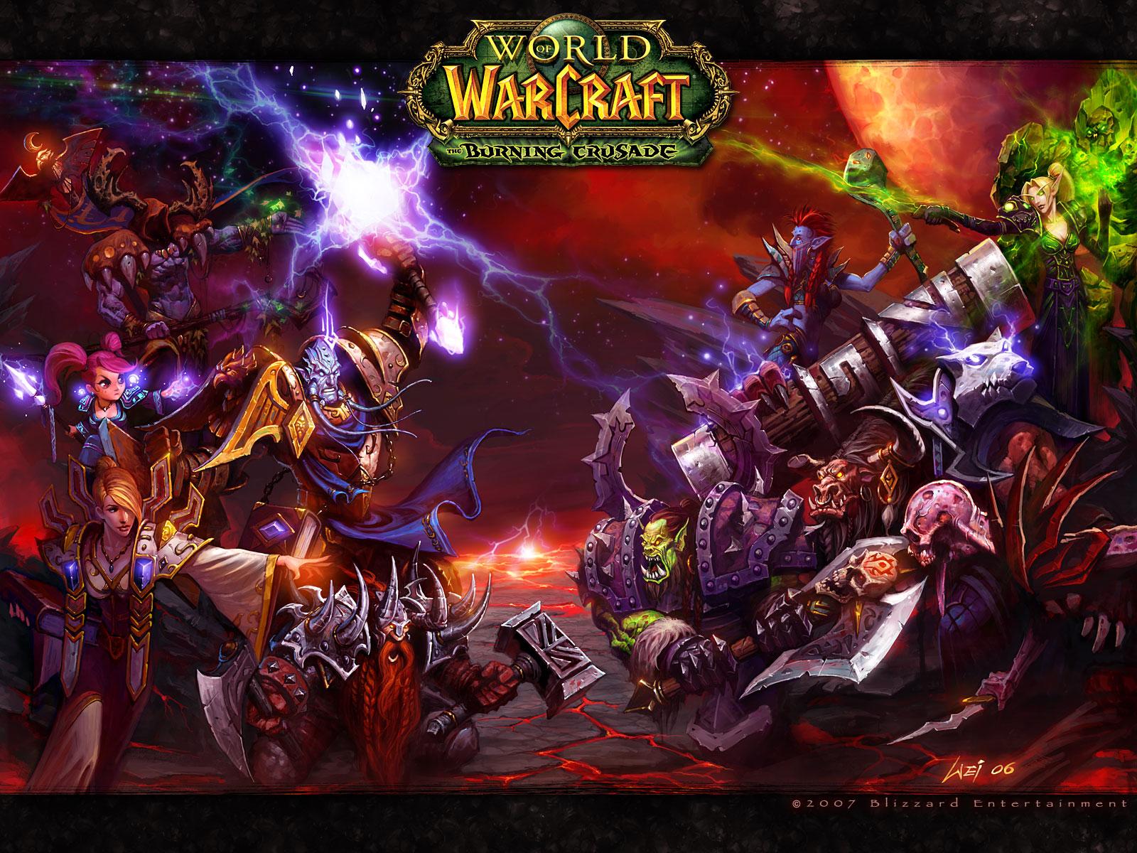 World of warcraft burning crusade wow wallpaper background desktop mmo