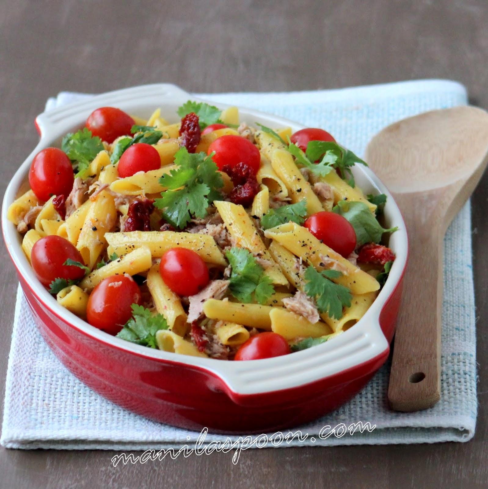 Gluten free tuna pasta salad manila spoon for Tuna fish pasta salad