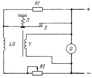 Принцип действия регулятора напряжения вибрационного типа