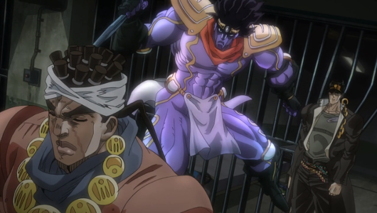 Recenzja anime JoJo's Bizarre Adventure: Stardust Crusaders (2014). Studio David Production.
