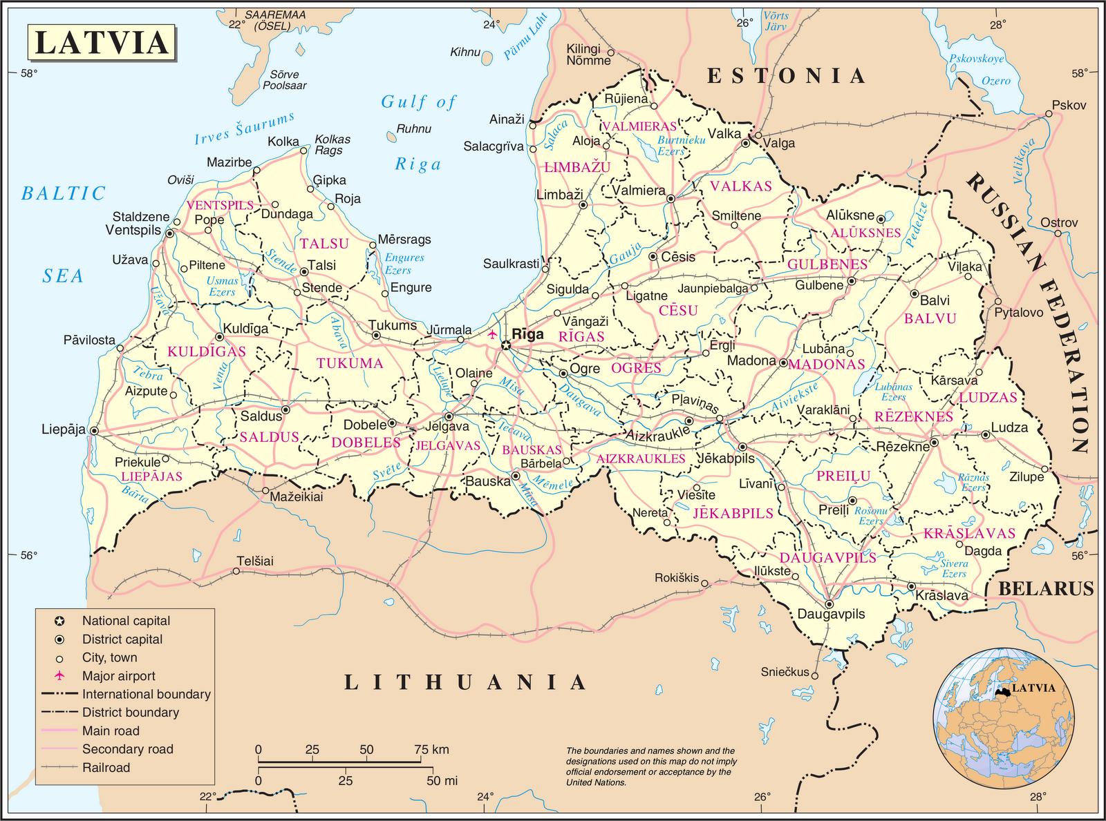 kaart europa estland