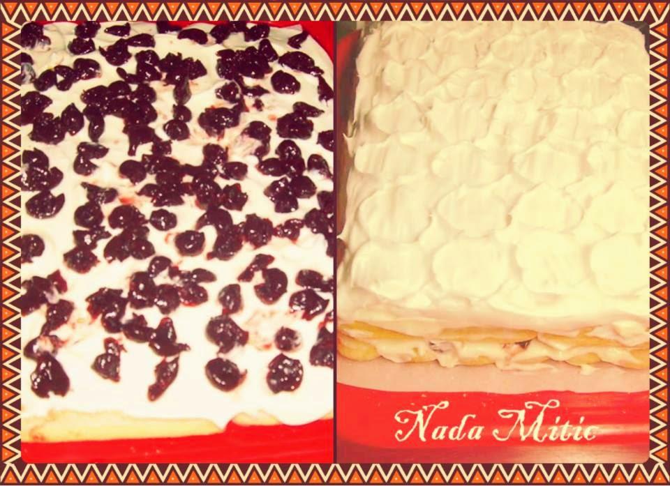 Recept: Vocna torta sa piskotama