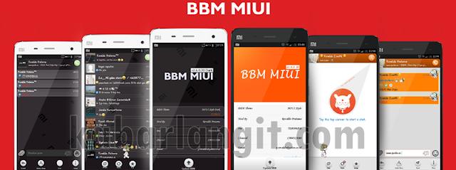 BBM Mod MIUI Style All Version Terbaru Gratis