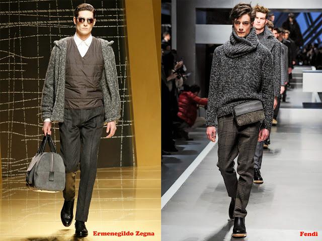 Tendencia otoño_invierno 2013-14 color gris: Ermenegildo Zegna y Fendi