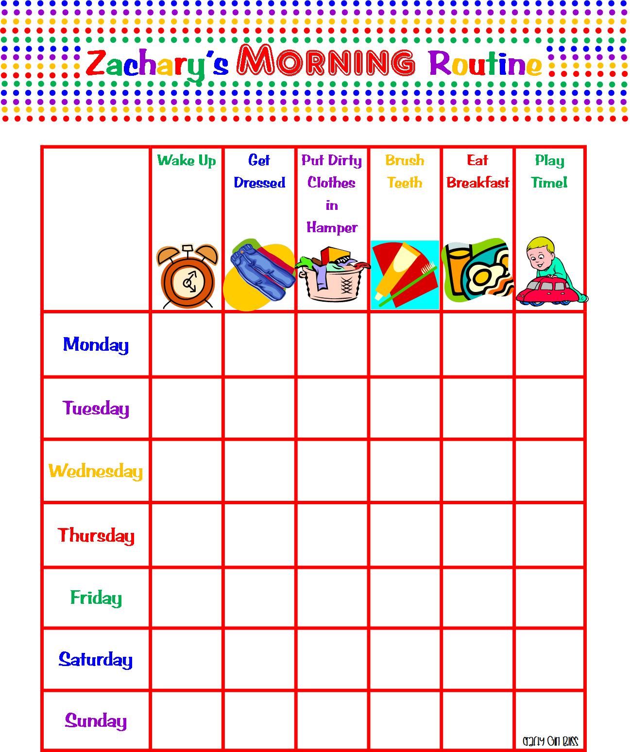 Pin Kids Morning Routine Chart on Pinterest