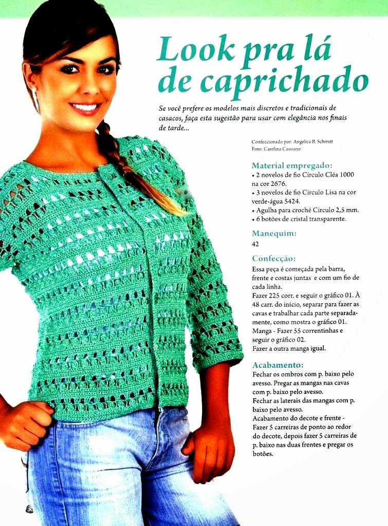 Free Crochet Charts Explained 2 Spring Jackets For Spring 2015
