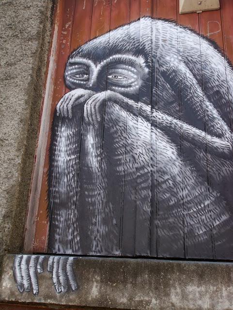 Street Art By British Artist Phlegm For The Empty Walls Festival In Cardiff, Wales. 3