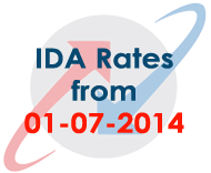 BSNL Employees IDA (Industrial DA Rates) from 1st July 2014