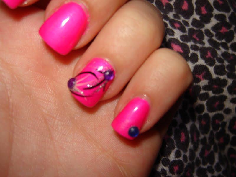 WaR Pa!Nt LuV: Nails... The Pink Ladies (Purple Panic -Neon)