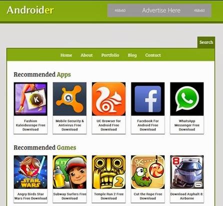Blogger android teması
