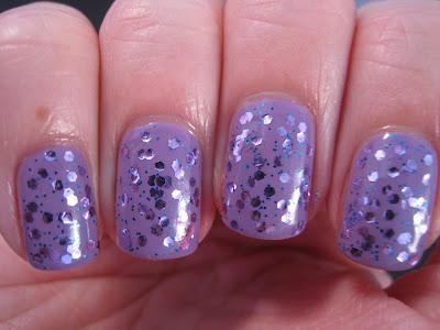 Hello-Kitty-Beat-Box-Claire's-lilac-and-blue-glitter-nail-polish