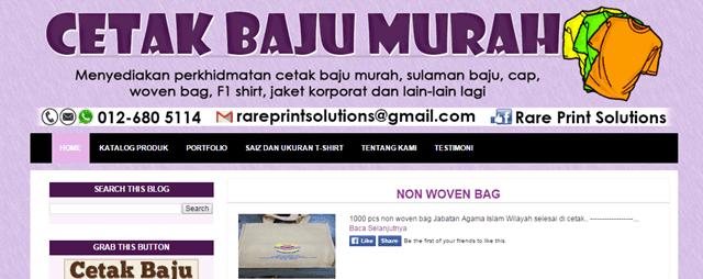 Tempahan Design Blog Cetak Baju Murah