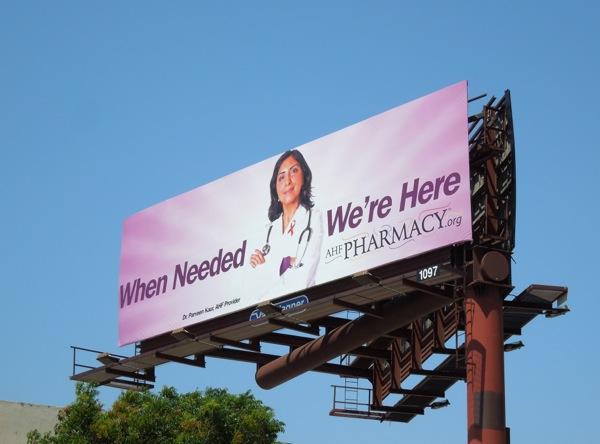 When Needed AHF Pharmacy billboard