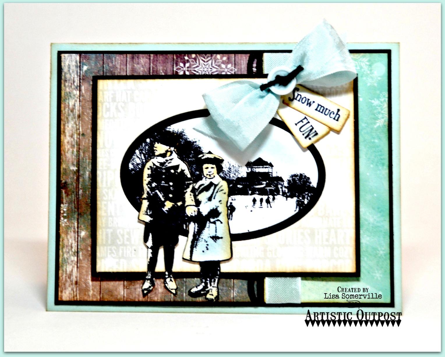 Stamps - Artistic Outpost Skating Emporium, ODBD Custom Mini Tags Dies, ODBD Custom Beautiful Borders Dies