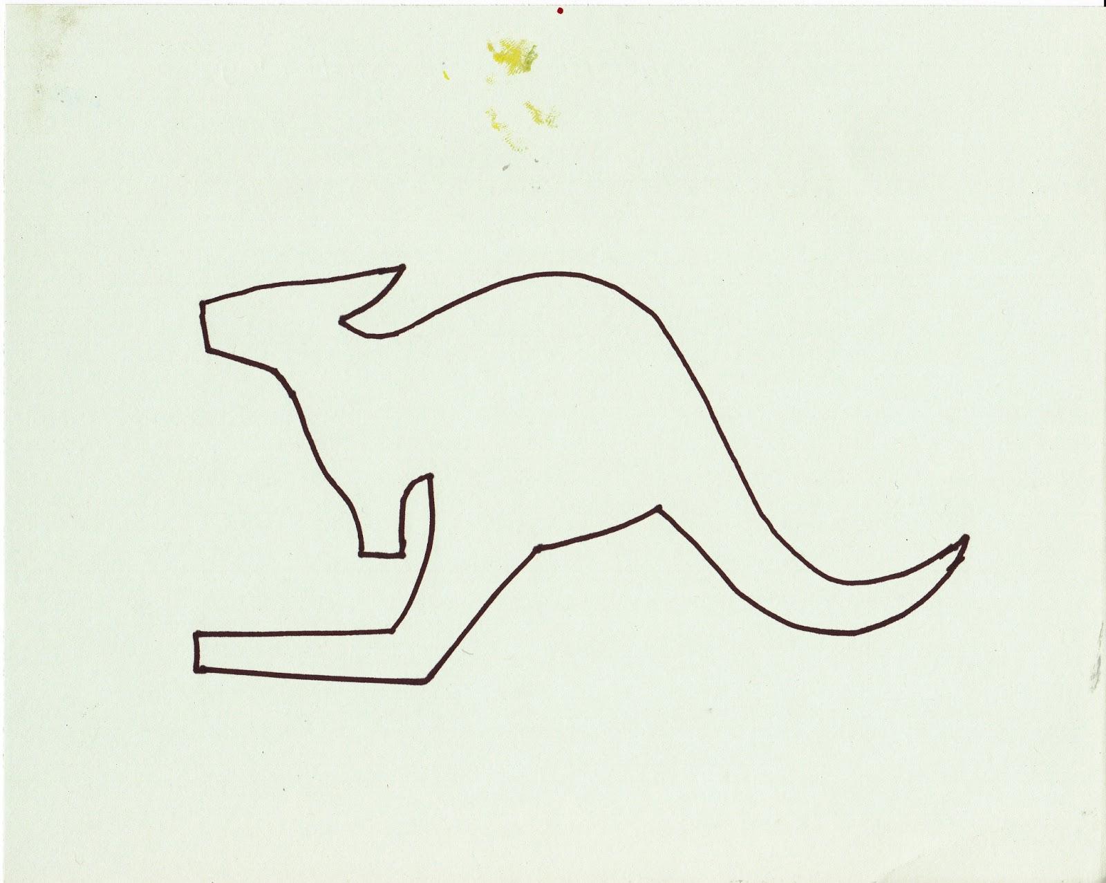 Kangaroo drawing outline - photo#11