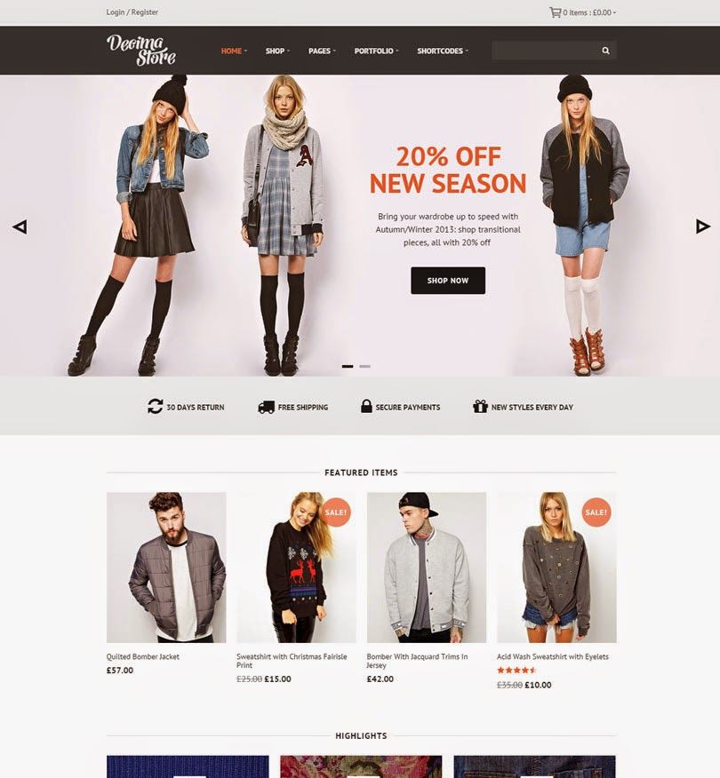 Decima – WooCommerce WordPress Theme