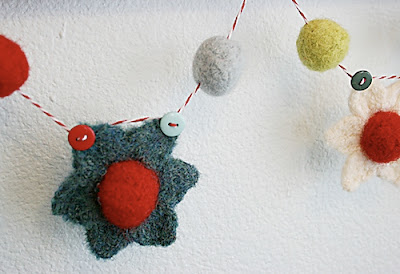 free crochet pattern felted christmas garland