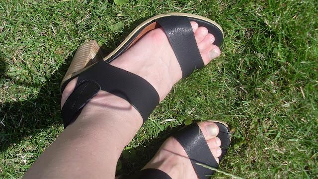 sandales à talons ouverts