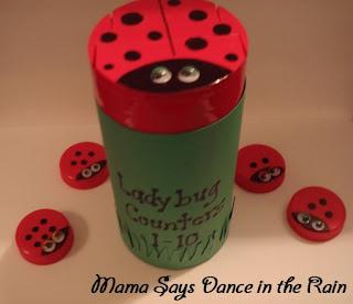 DIY Ladybug Milk Counters,