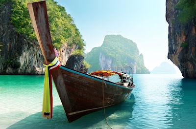 Barco en las Islas Andaman de Tailandia - Turismo - boat islands thailand