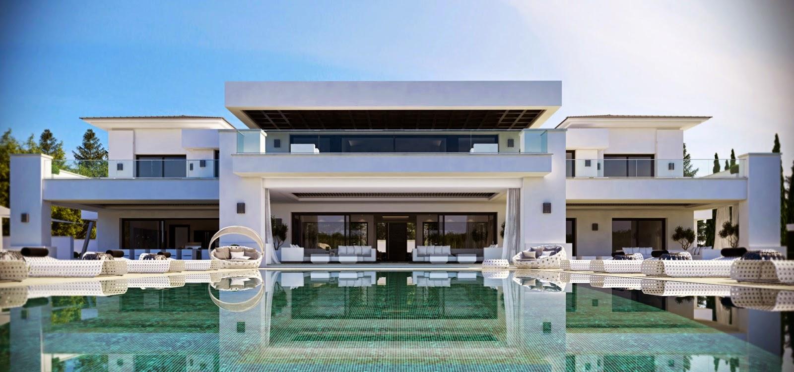 Contemporary golfside villa in sotogrande for Architecture de la maison blanche