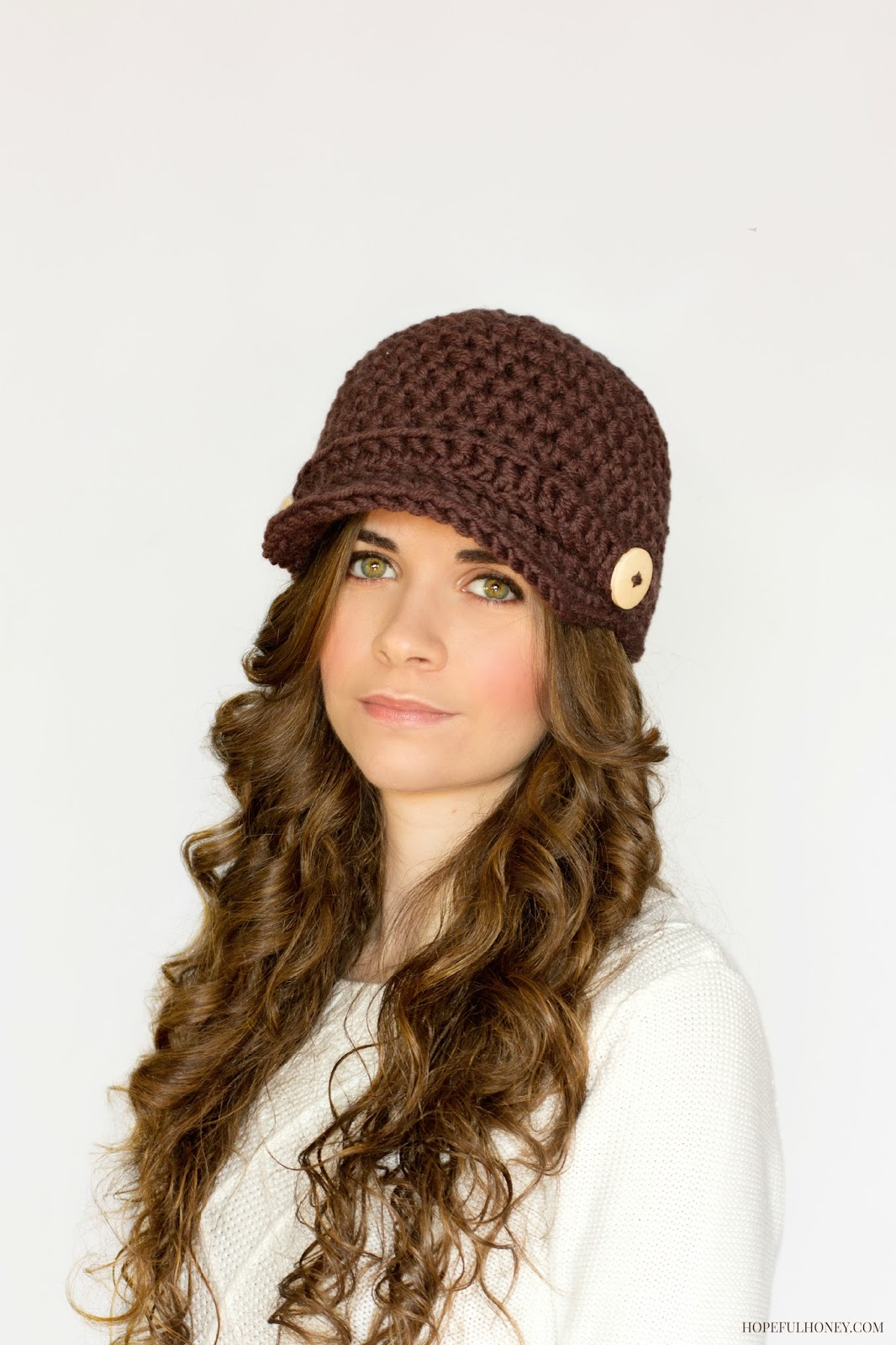 ... Honey Craft, Crochet, Create: Nifty Newsboy Hat Crochet Pattern