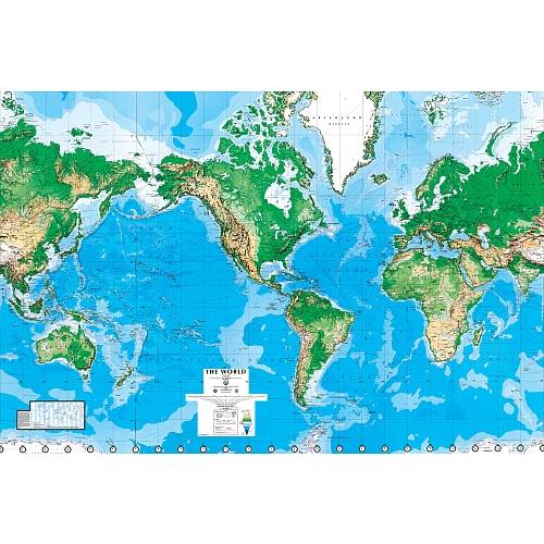 TOYSRUS WORLD MAP WALL MURAL