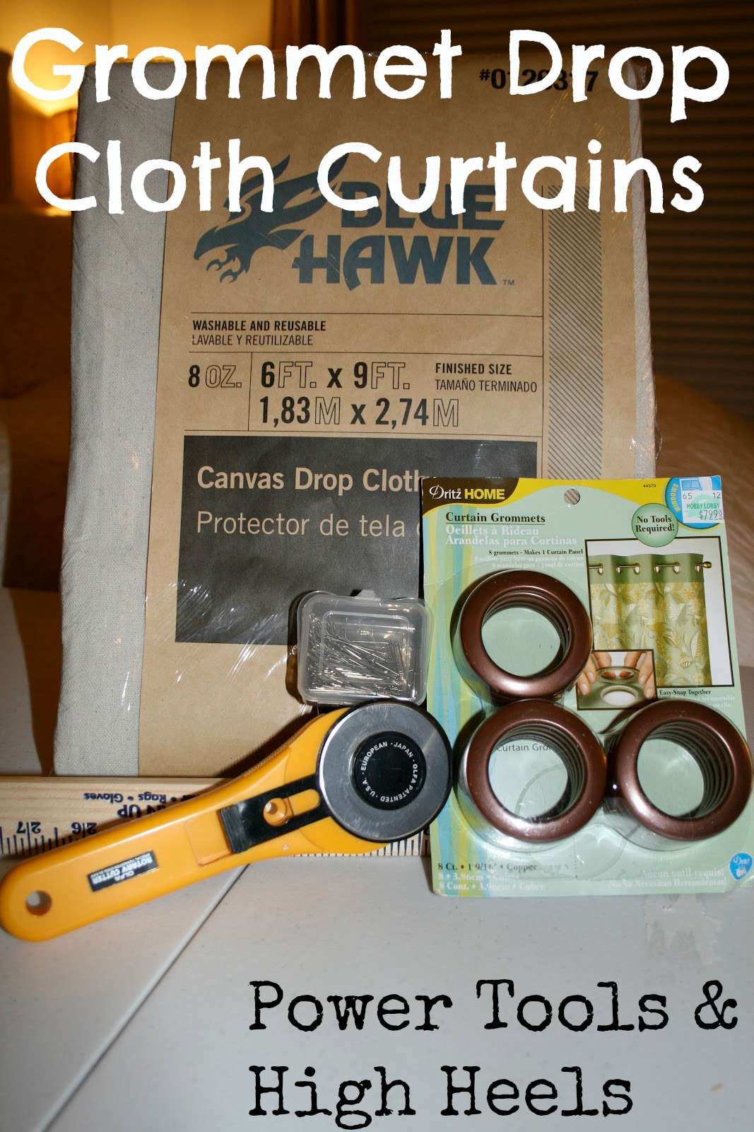 Making curtains with grommets - Drop Cloth Curtains With Grommets