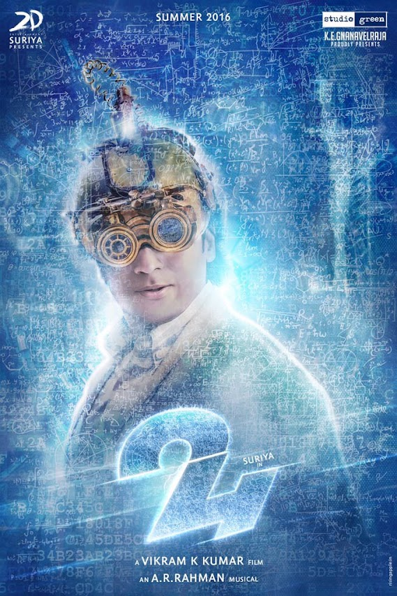 First Look Posters of Suriya from 24 as a cheerful scientist