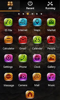 Screenshots of the Metal Go Launcher EX Android apk Themes for Android mobile, tablet, and Smartphone.