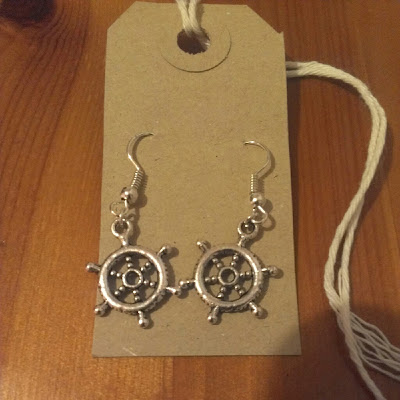 Amethyst Ezme ship wheel earrings