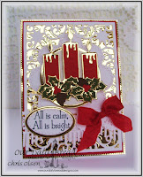 Our Daily Bread Designs, Christmas Candle Dies, Beautiful Border Dies, stitched oval dies, oval dies, Flourished Star Pattern, Perfect Light stamp set, Designed By Chris Olsen