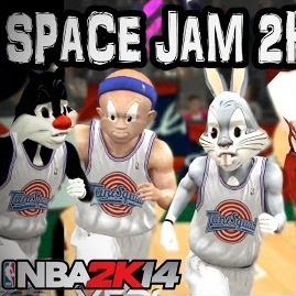NBA 2k14 Space Jam Mod : Tune Squad vs MonStars