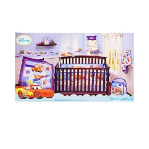 disney cars quot junior junction quot 4 crib bedding set home sweet home