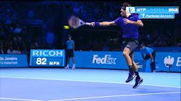 Federer forehand at O2 Arena, 2012