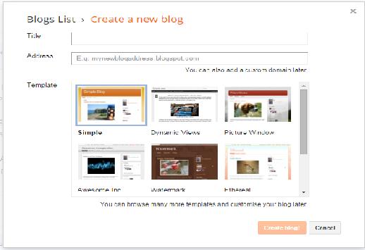 cara terbaru buat blog di blogspot