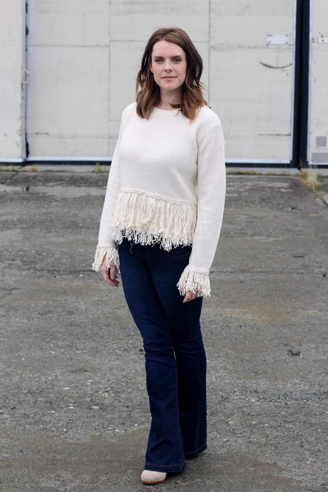 fringe sweater endless rose